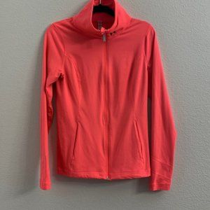 Under  Armour  Neon Coral Pink Fitted Jacket
